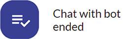 Mensaje cuando el chat con el bot ha finalizado