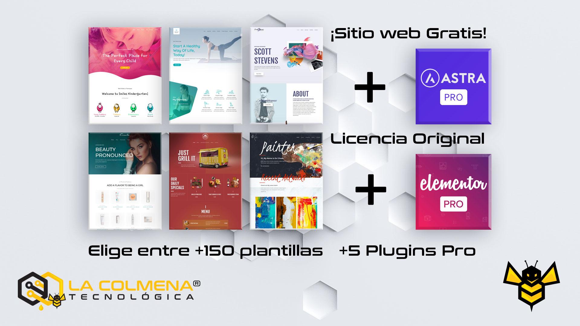 Página web Gratis + Astra Pro + Elementor Pro
