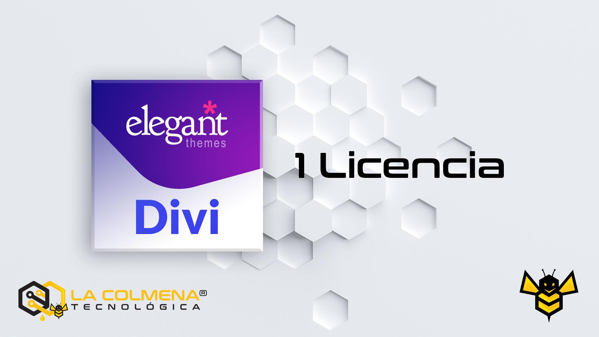 1 LicencIa de Divi Elegant Themes