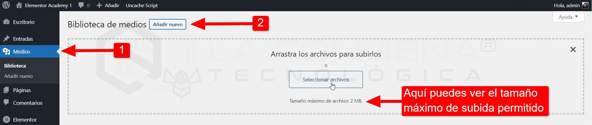 upload_max_filesize WordPress