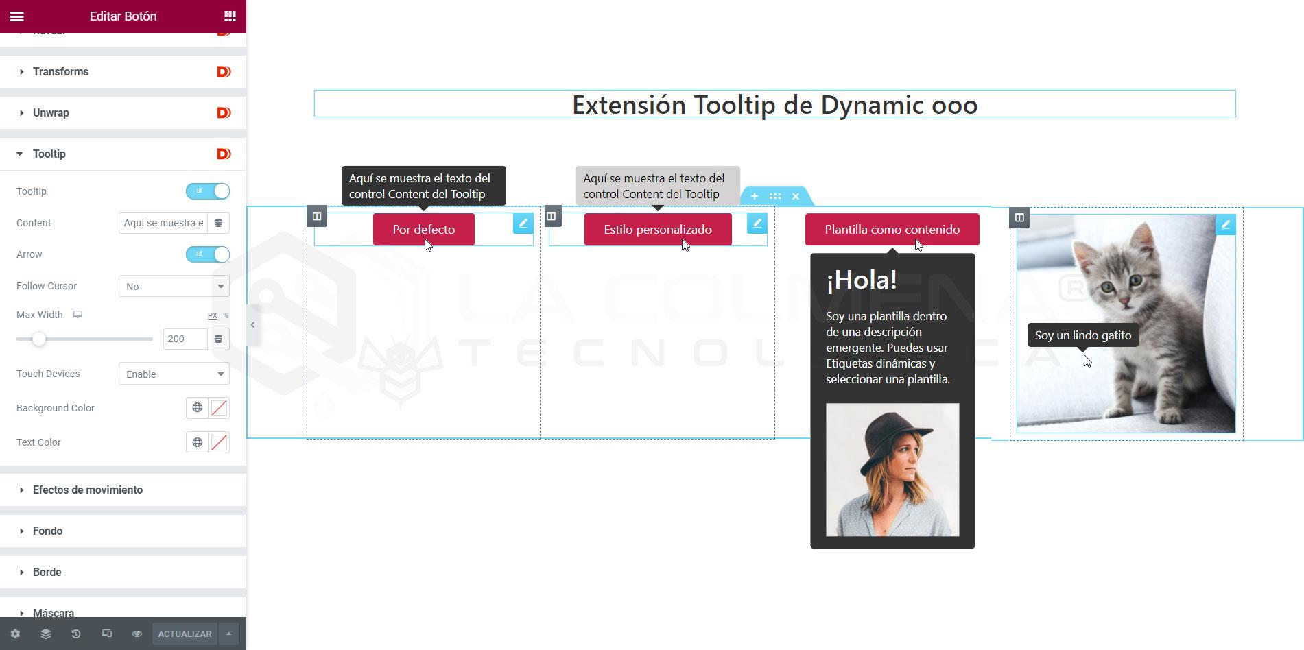 Extensión Tooltip de Dynamic ooo