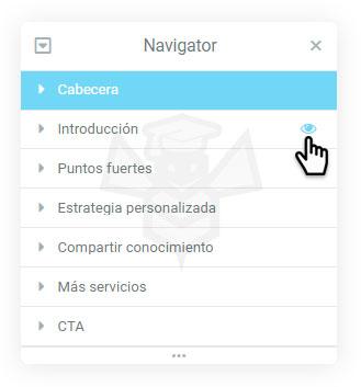 Navigator Elementor - Ocultar elementos
