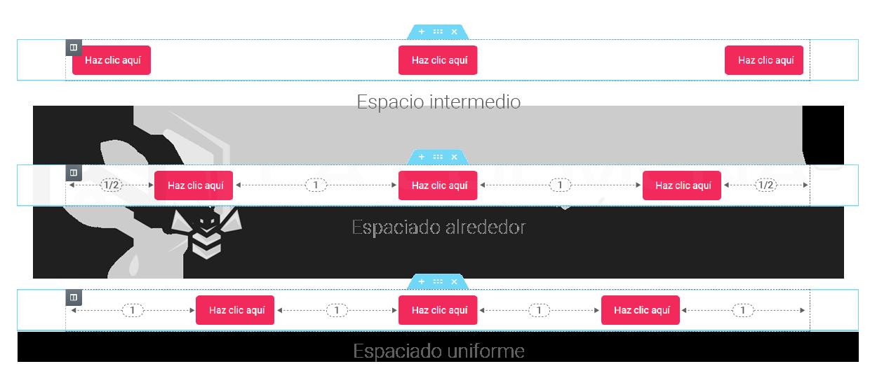 Alineación horizontal columnas